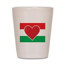 Heart Hungary Flag Shot Glass