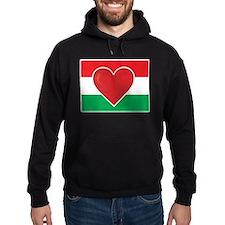 Heart Hungary Flag Hoodie