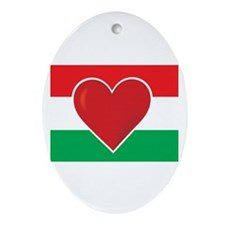Heart Hungary Flag Ornament (Oval)