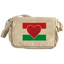 Heart Hungary Flag Messenger Bag
