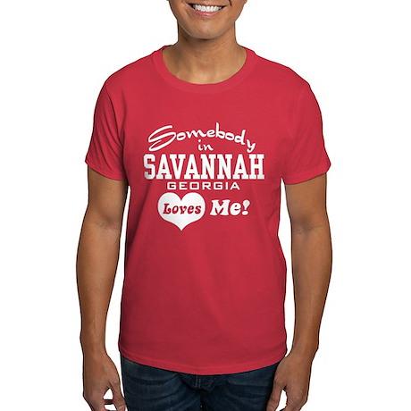 Somebody In Savannah Loves Me Dark T-Shirt