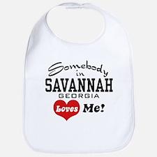 Somebody In Savannah Loves Me Bib
