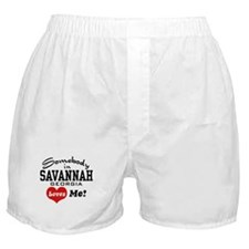 Somebody In Savannah Loves Me Boxer Shorts