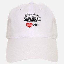 Somebody In Savannah Loves Me Baseball Baseball Cap