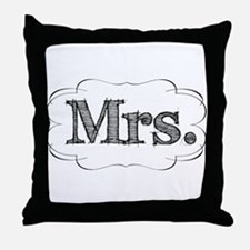 His & Hers Throw Pillow