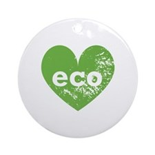 Eco Heart Ornament (Round)