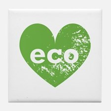 Eco Heart Tile Coaster