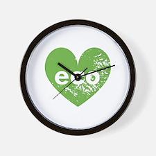 Eco Heart Wall Clock