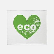 Eco Heart Throw Blanket
