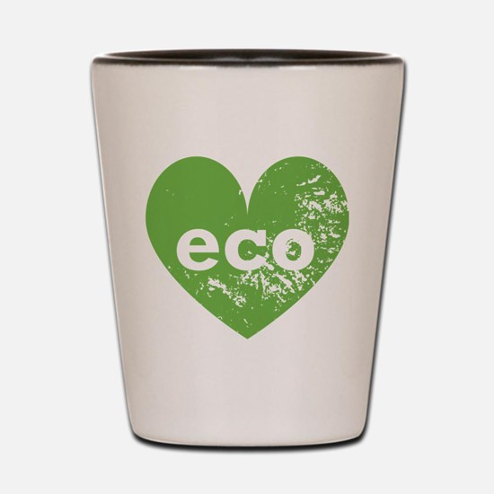 Eco Heart Shot Glass