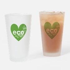 Eco Heart Drinking Glass