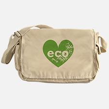 Eco Heart Messenger Bag