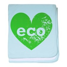 Eco Heart baby blanket