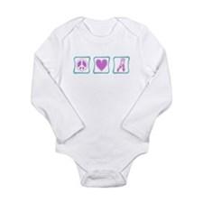 Peace, Love and Ballet Shoes Long Sleeve Infant Bo