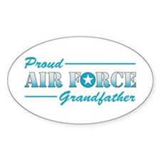 Proud Grandfather Oval Decal