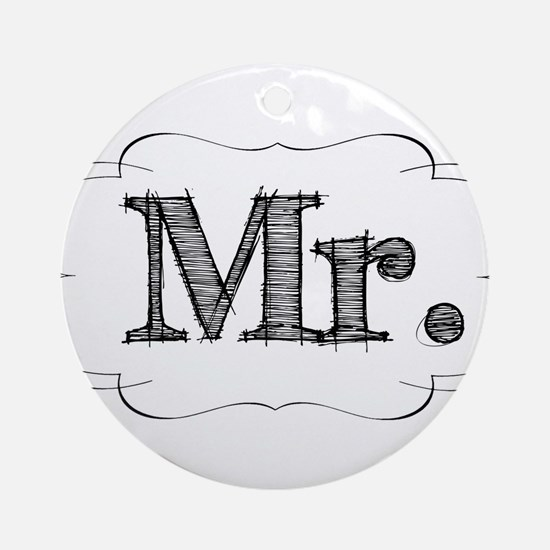 His & Hers Ornament (Round)