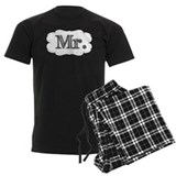 Mr and mrs Men's Pajamas Dark