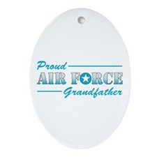Proud Grandfather Oval Ornament