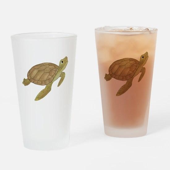Sea Turtle Drinking Glass