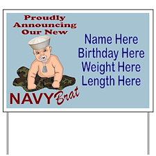 Navy Brat Blue Customizable Yard Sign