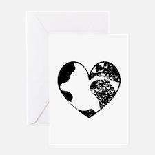Heart Earth Greeting Card