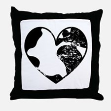 Heart Earth Throw Pillow