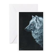 Spirit Wolf Greeting Card