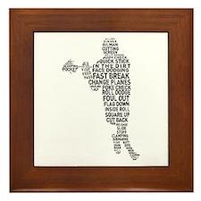 Lacrosse Terminology Framed Tile