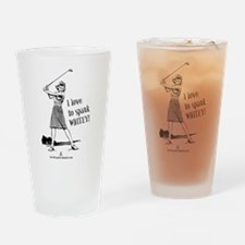 Women's Spank Whitey Drinking Glass