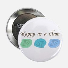 Happy as a Clam Button