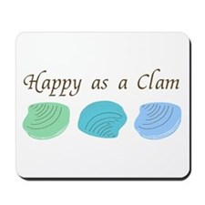 Happy as a Clam Mousepad