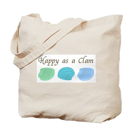 Happy as a Clam Tote Bag
