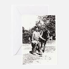 Vintage Cowboy #02 Greeting Card