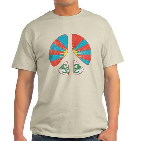 Free Tibet Peace Sign T-Shirt