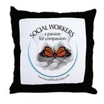 Social Workers - A Passion fo Throw Pillow