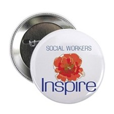 """Social Workers Inspire 2.25"""" Button (10 pack)"""