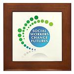 Social Workers Change Futures Framed Tile