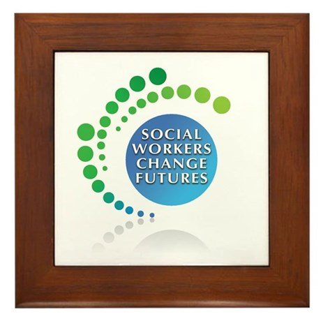 Social Workers Change Futures Framed Tile