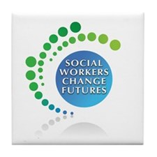 Social Workers Change Futures Tile Coaster