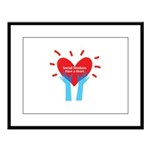 Social Workers Have A Heart Large Framed Print