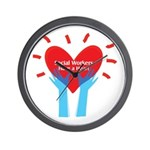 Social Workers Have A Heart Wall Clock