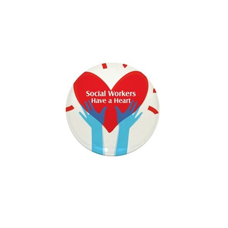 Social Workers Have A Heart Mini Button (10 pack)