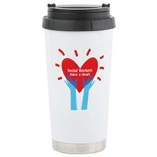 Social Workers Have A Heart Travel Mug