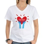 Social Workers Have A Heart Women's V-Neck T-Shirt
