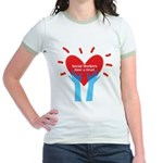 Social Workers Have A Heart Jr. Ringer T-Shirt