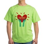 Social Workers Have A Heart Green T-Shirt