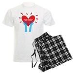 Social Workers Have A Heart Men's Light Pajamas
