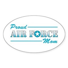 Proud Mom Oval Decal