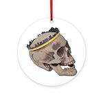 Skull Wearing Skyline Crown Ornament (Round)