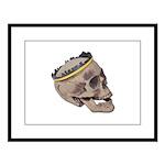 Skull Wearing Skyline Crown Large Framed Print